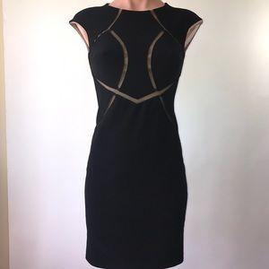 INC Black & Tan Dress Cap Sleeve -Size OP